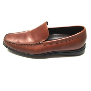 Cole Haan Nike Air brown leather slipon loafers 11